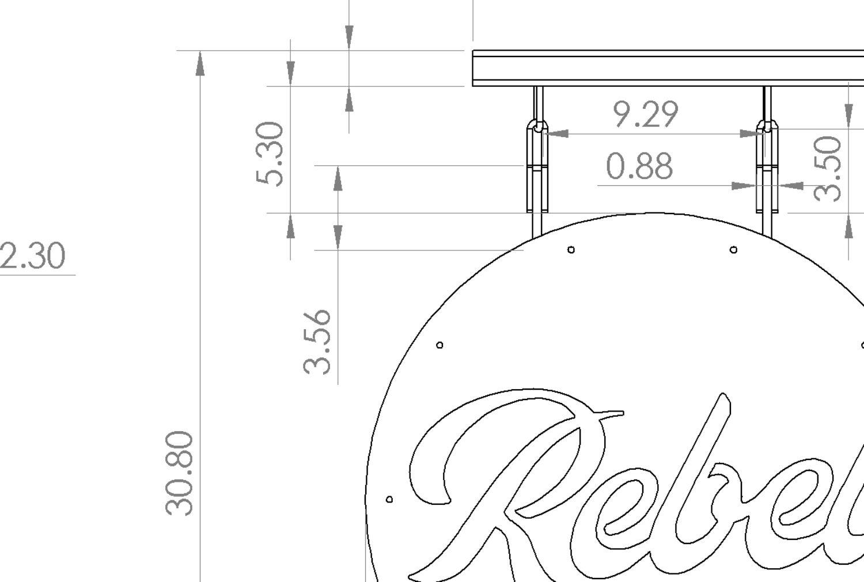Rebel Sign Design Process